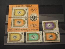DOMINICA - 1971 UNICEF  4 VALORI + BF - NUOVI(++) - Dominica (1978-...)