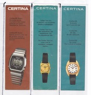 6 Marques Pages  Marque Montre Certina   Scann Recto - Verso - Bookmarks