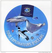 """Beau Sticker Autocollant """"Aquarium Mare Nostrum - Montpellier"""" - Stickers"""