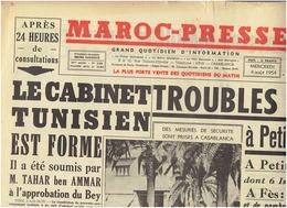 MAROC PRESSE ( Casablanca )  Du 4 Aout 1954 Colette , Picasso - Newspapers