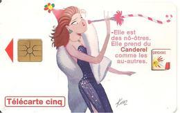 CARTE°-PRIVEE-5U-09/96-GN264-GEM-CANDEREL-FETE 2 -Reste 3U-TBE- - France