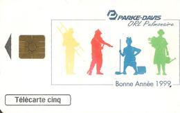 CARTE°-PRIVEE-5U-GN475-GEM2-12/98--V° Série 3001-PARKE-DAVIS-UTILISE-BE - - 5 Unidades