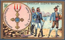 Chromo Chocolat Guerin-Boutron Décorations Françaises Et étrangères Croix D'honneur Autriche Médaille Militaire - Guerin Boutron