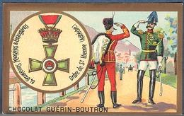 Chromo Chocolat Guerin-Boutron Décorations Françaises Et étrangères Autriche Ordre De St Etienne Hongrie Marie Thérèse - Guerin Boutron