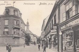 BADEN Bei Wien (NÖ) - Theresiengasse, Karte 1901, Gute Erhaltung - Baden Bei Wien