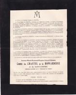 BREENDONCK GAGES Antoine Comte Du CHASTEL De La HOWARDERIE Adjudant 1900-1921 De WOELMONT - Obituary Notices