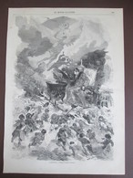 2 Gravure  1870 Le Plesbiscite   DESSIN D EDMOND MORIN Place Du Chateau D Eau  Rue De La SOURDIERE - Vieux Papiers
