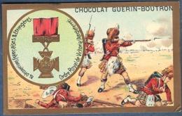 Chromo Chocolat Guerin-Boutron Décorations Françaises Et étrangères Ordre Royal De Victoria Angleterre Colonies Soldats - Guerin Boutron