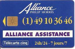 CARTE°-PRIVEE-5U-05/95-GN 148-GEMB-ALLIANCE ASSISTANCE-utilise-TBE - France
