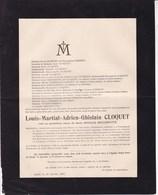 FELUY GAND Louis-Martial CLOQUET Veuf HELLEPUTTE Architecte Professeur Université De Gand 1920 - Obituary Notices