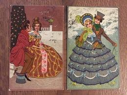 Art Nouveau - Lotto Di 2 Cartoline - Theo Stroefer's - Alice Wanke - Illustrators & Photographers