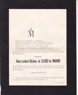 Aux AWIRS René-Lambert De CLERCX De WAROUX 1883-1913 Faire-part Le NORMAND De BRETTEVILLE De LANNOY - Obituary Notices