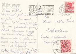 ÖSTERREICH NACHPORTO - 30 Gro Nachporto + 40 L Auf Ak VENEZIA, Gel.v. Venezia N. Seeboden - Postage Due
