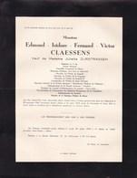 """MAESTRICHT HEUSY Verviers Edmond CLAESSENS Veuf ZURSTRASSEN Ancien Sénateur Journal """"GRENZ Echo"""" 1882-1954 - Obituary Notices"""