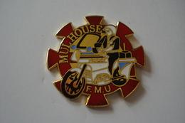 20180425-1652 ALSACE POLICE MOTARD FMU MULHOUSE - PIN'S METAL DORE - Police