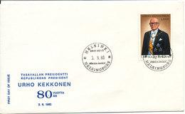 Finland FDC 3-9-1980 President URHO KEKKONEN 80 Years With Cachet - FDC