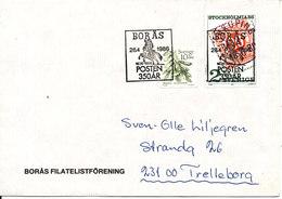Sweden Cover Boras 26-4-1986 Special Postmark POSTEN 300th Anniversary Stamp On Stamp - Sweden