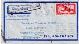 Lettres Indochine  Pour La France ( Rochefort-sur-mer.17) - Indochina (1889-1945)