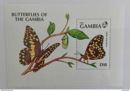 Gambia 1991** Bl.113. Butterflies Of Gambia MNH [12;89] - Butterflies