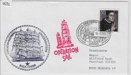 1980 Operation Sail - Kruzenshtern Kpy3ehwteph Riga/USSR - 2850 Bremerhaven 16.8. - Ships