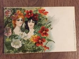 Art Nouveau - Jack Abeille - Serie Dei Fiori - Le Liseron E La Capucine - Illustratori & Fotografie