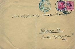 1916 , SOBRE CIRCULADO , MARCA DE CENSURA , STRASSBURG - LEIPZIG, - Cartas