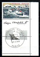 TFN1001 : France Neuf Yvert N°1791 Sauvetage Mer 1974 BDF + PJ + Signature Dessinateur - Neufs
