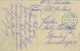 1916 , TARJETA POSTAL CIRCULADA , MARCA DE CENSURA , STRASSBURG - NÜRNBERG, - Cartas