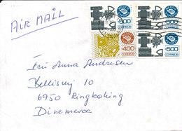 Mexico Cover Sent Air Mail To Denmark - México