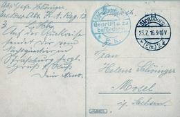 1916 , TARJETA POSTAL CIRCULADA , MARCA DE CENSURA , STRASSBURG - MOSEL - Cartas