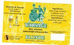 Etiquette Bière Warsage Blonde 33 Cl, Brasserie De Warsage Bier Etiket Beer Label - Bière