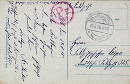 1918 , TARJETA POSTAL CIRCULADA , MARCA DE CENSURA , STRASSBURG - Cartas