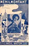 CAF CONC 40 60 TRENET PARTITION MÉNILMONTANT 1938 ILL GG NOËL PARIS - Musique & Instruments