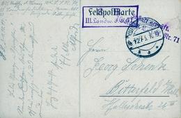 1915 , TARJETA POSTAL CIRCULADA , FELDPOST , CIRCULADA A BITTERFELD , CENSURA - Cartas