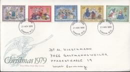 GROSSBRITANNIEN 812-816, FDC, Echt Gelaufen, Weihnachten 1979 - 1971-1980 Dezimalausgaben