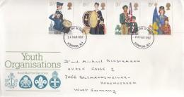 GROSSBRITANNIEN 910-913, FDC, Echt Gelaufen, Britische Jugendorganisationen 1982 - FDC