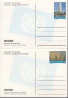 UNO NEW YORK  Ganzsache P 20+21, Ungebraucht, UNO-Hauptquartier Mit Rosen Und East River 1998 - New York -  VN Hauptquartier