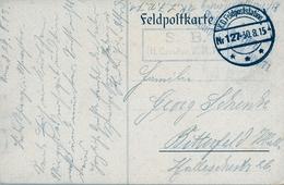 1915 , TARJETA POSTAL CIRCULADA , FELDPOST , CIRCULADA A BITTERFELD , CENSURA , TEMÁTICA MILITAR - Cartas