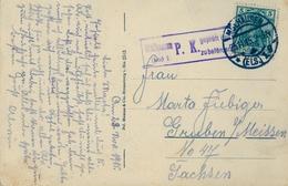 1915 , TARJETA POSTAL CIRCULADA  , MULHAUSEN - SACHSEN , CENSURA - Cartas