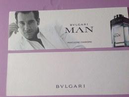 BULGARI MAN  Masculine Charisma - Cartes Parfumées