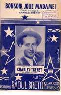 CAF CONC 40 60 TRENET PARTITION BONSOIR JOLIE MADAME 1941 - Musique & Instruments