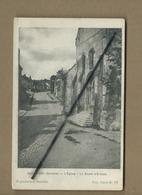 CPA - Guerbigny  - (Somme) - L'église - La Route D'Erches - France