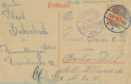 1916 , ENTERO POSTAL CIRCULADO A BERLIN , CENSURA DIEDENHOFEN - Cartas