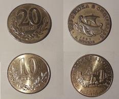 Albania 1996 2 Monete 10 E 20 Leke - Albania