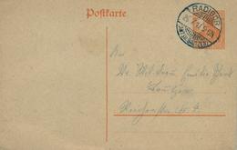 1914 , ENTERO POSTAL CIRCULADO  , RADIBOR - BAUTZEN - Cartas