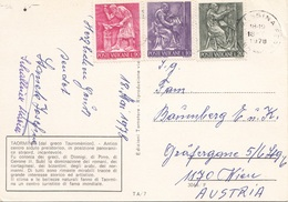VATICANE 1978  - 3 Schöne Sondermarken Auf Ak TAORMINA - Vatikan