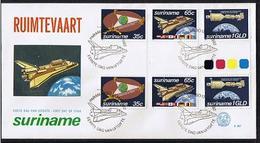 Surinam / Suriname 1982 FDC 57 BP Space Shuttle Spacetravelling Raumfahrt Aerospatiale - Suriname
