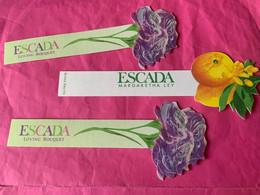 ESCADA   2 Cartes Ensemble - Cartes Parfumées
