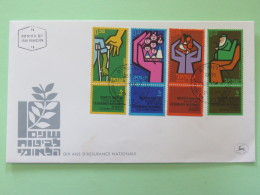 Israel 1964 FDC Cover - Social Security - Medecine Old Age Family - Israel