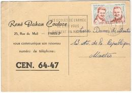 FRANCIA - France - 1959 - 20F C.Goujon-Rozanoff + Flamme Les écoles De L'armée De L'air Vous Donnent Un Métier - Seul - - Frankreich